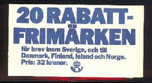 SWEDEN SC# 1459a BOOKLET - MNH