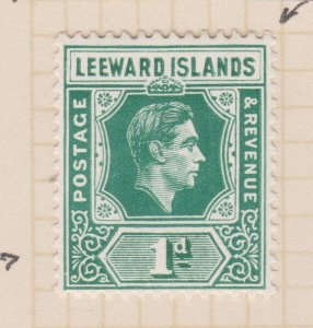 Leeward Islands Sc#121 MH Variety Flat S, damage to value tablet