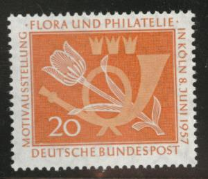 Germany Scott 764 MNH** 1957 Tulip Post Horn stamp