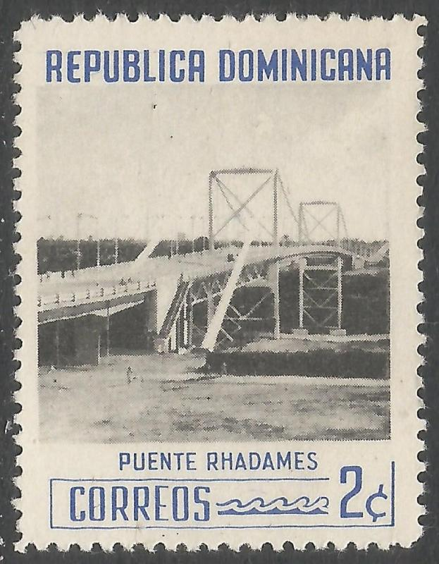 DOMINICAN REPUBLIC 519 VFU BRIDGE 401F-2