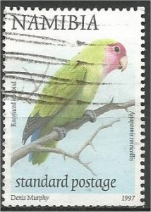 NAMIBIA, 1997, used Std,  Rosyfaced lovebird  Scott 858