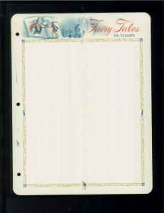 White Ace Historic Stamp Album Pages Fairy Tales Topical Blank Pages Pack of 12