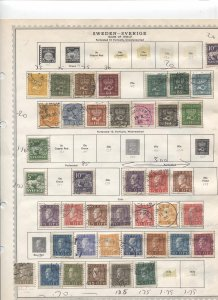 STAMP STATION PERTH- Sweden #85 Used Stamps on Pages - Unchecked
