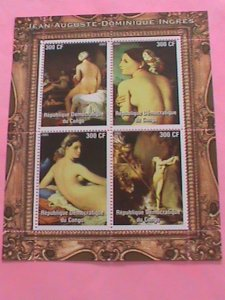 CONGO STAMP-2005-JEAN AUGUSTE-DOMINIQUE INGRES-MNH STAMP SHEET -