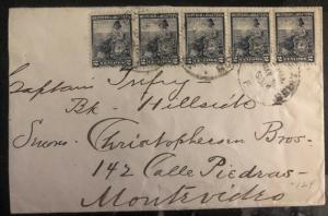 1904 Buenos Aires Argentina Cover To Montevideo Uruguay
