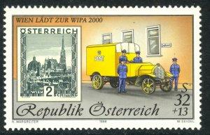 AUSTRIA 1998 32s+13s WIPA 2000 Semi Postal MAIL TRUCK Sc B369 MNH