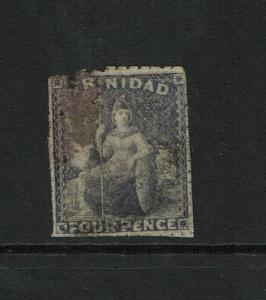 Trinidad SG# 33 Used / Damaged Corner / Hinge Rem - S6251