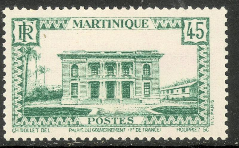 MARTINIQUE 1933-40 45c Government Palace Pictorial Sc 147 MH