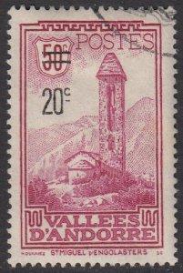 French Andorra 64 Used CV $17.00