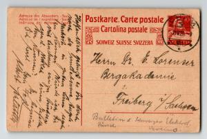 Switzerland 1920 Postal Card Used to Freiburg - Z13131