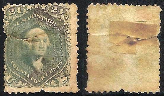 United States 1861-1862 Scott # 70b Used Damaged