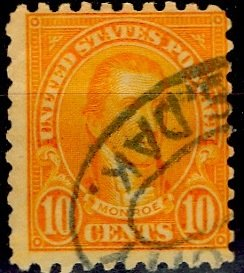 U.S.A.; 1925; Sc. # 591;  O/Used Perf. 10 Single Stamp