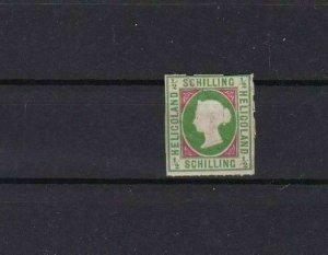 HELIGOLAND 1867 ½ SCHILLING MOUNTED MINT  STAMP  NO GUM       REF 5832