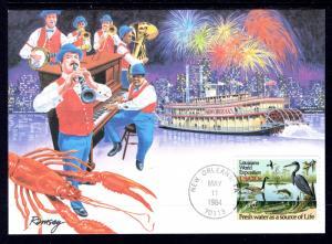 US 2086 Louisiana World Expo Fleetwood Unicover U/A Maxicard FDC