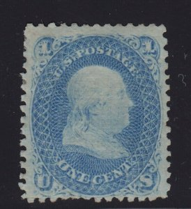 86 F-VF  scarce unused ( mint regum ) with nice color cv $ 1200 ! see pic !