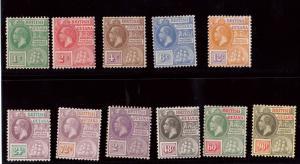 British Guiana #191 - #201 VF Mint Set