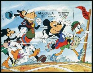 Anguilla 568a,MNH.Michel 576 Bl.53-II. Olympics Los Angeles-1984,Walt Disney.
