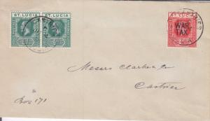 1918, Castries, St. Lucia, Local Delivery, See Remark (22206)