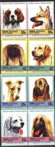 BEQUIA VINCENT GRENADINES 8 SETS DOGS