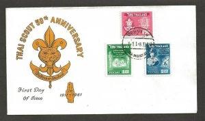 1961 Thailand Boy Scout 50th anniversary FDC