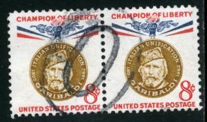 United States - SC #1169 - USED PAIR - 1960 - Item USA1115
