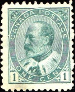 Canada Scott 89 Mint never hinged with stain.