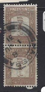 PALESTINE  (P0609BB)   POSTAGE DUE  SG D12  VERT PR  VFU