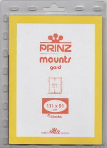 PRINZ CLEAR MOUNTS 111X91 (6) RETAIL PRICE $5.50