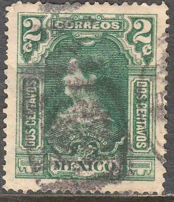 MEXICO 311, 2¢ INDEPENDENCE CENTENNIAL 1910 COMMEM USED. F-VF (218)