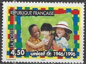 France  2543   MNH  UNICEF 50th Anniversary