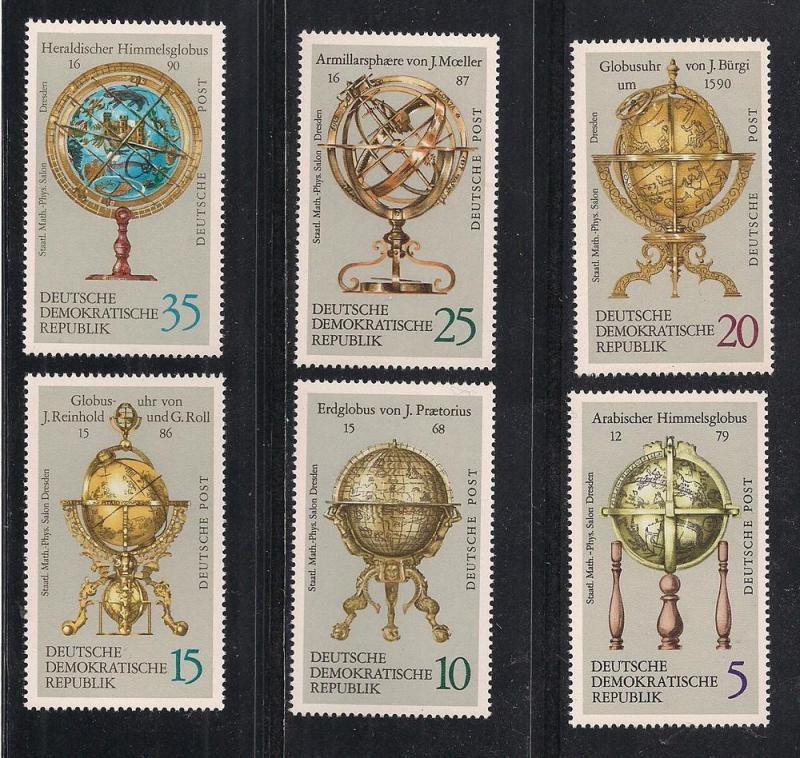 GERMANY - DDR SC# 1402-7 F-VF MNH 1972