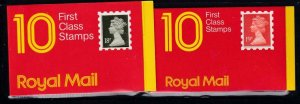 GB BK # 714,729 VF-MNH  2 DIFFERENT COVERS BOOKLETS PO FRESH CAT VALUE $25+