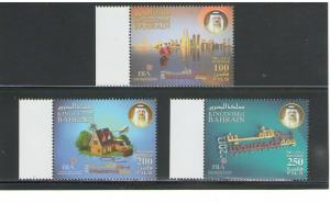 BAHRAIN:  Sc.698-700 /**INSURANCE  DAY**/ Complete Set /MNH