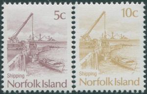 Norfolk Island 1990 SG483-484 Ships set MNH