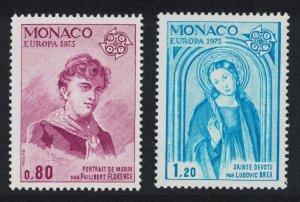 Monaco Paintings Europa CEPT 2v issue 1975 SG#1186-1187