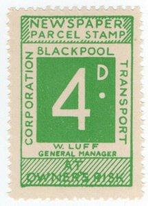 (I.B) Blackpool Corporation Railway : Newspaper Parcel 4d