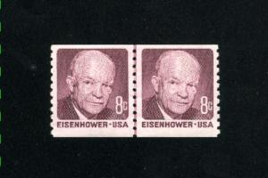 USA #1402  4 pair used 1970-71 PD .12