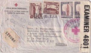 1942, Lima, Peru to Int'l Red Cross, Geneva, Switzerland, See Remark (C4132)