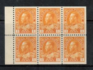 Canada #105b Extra Fine Never Hinged Booklet Pane