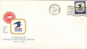 #1396 WA, Lynnwood 7-1-71 USPS FDC