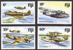 Fiji #454-57 MNH cpl planes