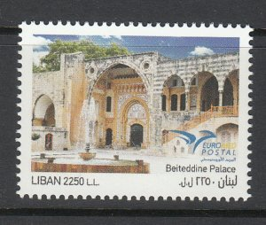 LEBANON-LIBAN MNH SC# 798 EURO POSTAL - BEITEDDINE PALACE