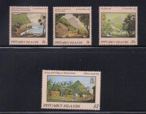 Pitcairn Islands Sc 249-52 Palmer & Smythe Paintings stamp set mint NH