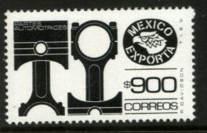 MEXICO Exporta 1500 $900P Pistons Fluor Paper 8 MNH