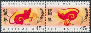 Christmas Island 1996 Year of the Rat Pair SG425-426 Fine Used