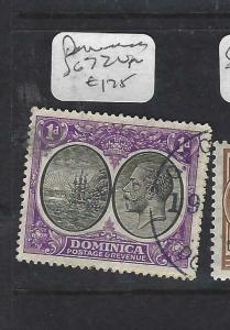DOMINICA (PP1903B)  KGV  1D  SG 72   VFU