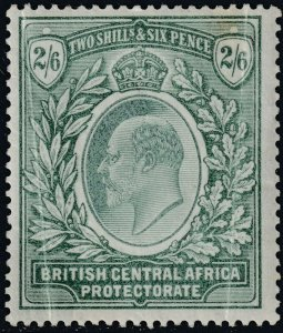 Sc# 65 British Central Africa Nyasaland BCA 1903-04 KEVII 2/6 MLH issue CV $70.