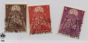 LUXEMBOURG  329-31  USED