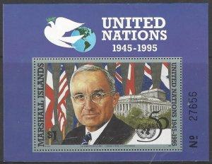 Marshall Islands 563  MNH  United Nations  50th Anniversary