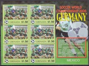 2006 Grenada 5718KL 2006 FIFA World Cup Germany( Mexico ) 9,00 €